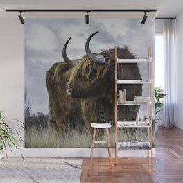 Highland Cow Wall Mural