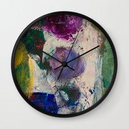 Indigo and lilac Wall Clock