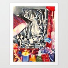 Through the mirror Art Print