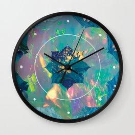 Psychedelic Crystal Lotus Wall Clock