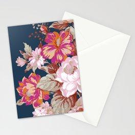 Vintage Floral on Blue Stationery Cards