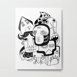 Imperfect Inhabitants Metal Print