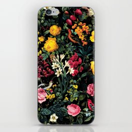 Floral and Birds Pattern iPhone Skin