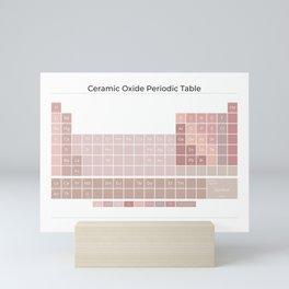 Ceramic Oxide Periodic Table in Peony on White Mini Art Print