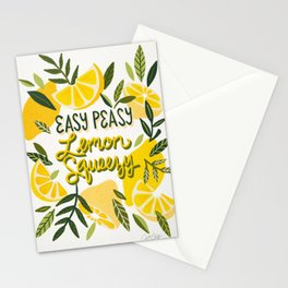 Easy Peasy Lemon Squeezy Citrus – Yellow & Green Palette Stationery Cards