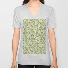 "William Morris ""Willow Bough"" Unisex V-Neck"