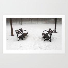 N.Y. Bench Art Print