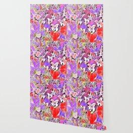 Candy floral mix pink Wallpaper