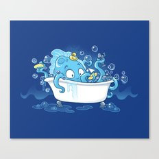 Kracken Bath Canvas Print