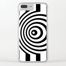 Black And White Op Art Graphic Clear iPhone Case