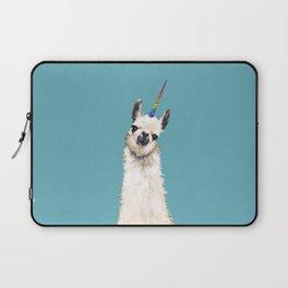 Unicorn Llama Blue Laptop Sleeve