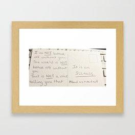 Daily Reminder Framed Art Print