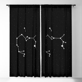 Sagittarius Star Sign Night Sky Blackout Curtain