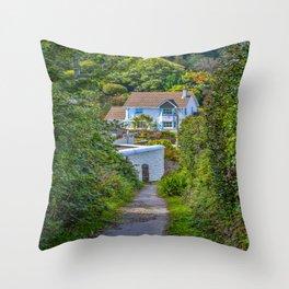 Mylor Walk - Wayfield Road Footpath Throw Pillow