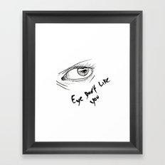 eyes don't lie 02 Framed Art Print
