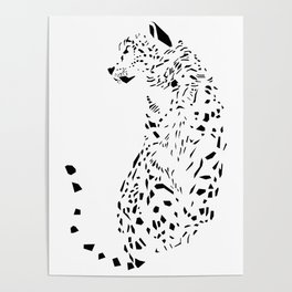 The Ghost of Mountains - Animal - Nature - Beast Big Cat Leopard Poster