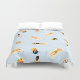 Abstract Summer Fun Bathing Time Pattern Duvet Cover