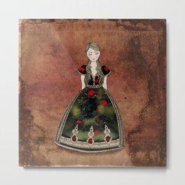 La Señora de las Flores Metal Print