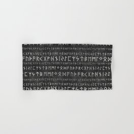 Elder Futhark Pattern on wooden texture Hand & Bath Towel