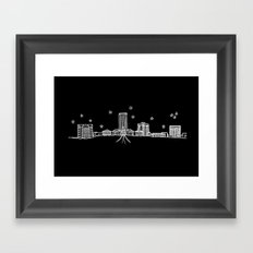 Tallahassee, Florida City Skyline Framed Art Print