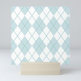 Blue Argyle Mini Art Print