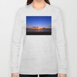 Sunset on the River in Georgetown Long Sleeve T-shirt