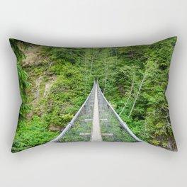 West Coast Trail Pacific Northwest Suspension Bridge Above Rectangular Pillow