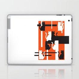 Cat in De Stijl - Halloween Edition Laptop & iPad Skin