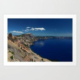 Crater Lake View with Caldera Rim Art Print