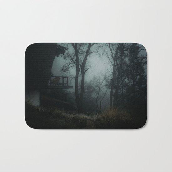 Fog in the woods Bath Mat