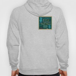 Teach Peace Blackboard Symbols Hoody