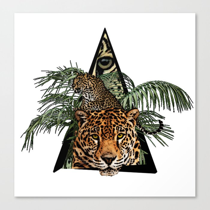 Jungle Animal Leopard ArtWork Canvas Print