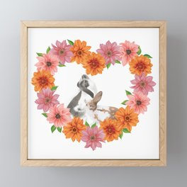 Rabbit Heart Framed Mini Art Print