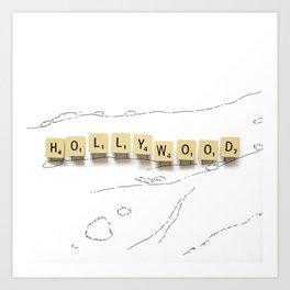 Hollywood Scrabble Art Print