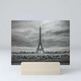 PARIS Eiffel Tower Thunderstorm Mini Art Print