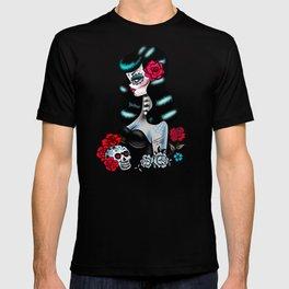Rockabilly Raven Sugar Skull Girl T-shirt