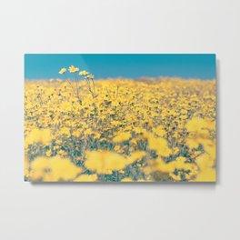 Sea of Yellow Metal Print