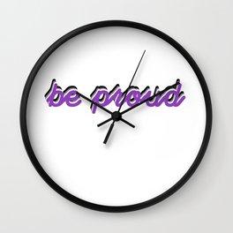 Asexual Pride Wall Clock