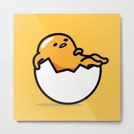 Lazy Egg Metal Print
