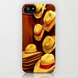 Luckenbach Hats iPhone Case