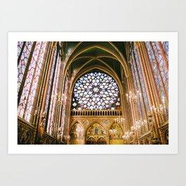 Sainte Chapelle - film Art Print