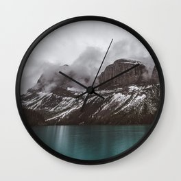 Landscape Maligne Lake Mountain View Photography | Alberta | Canada Wall Clock