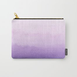 Purple Watercolor Design Carry-All Pouch