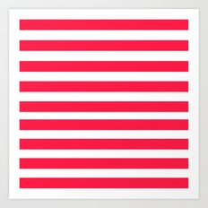 Red Lines Art Print