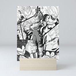 Vegeta manga version collage dragon ball super Mini Art Print