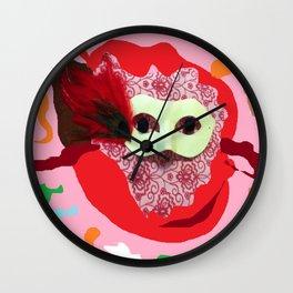 Mardi Gras Fun Wall Clock