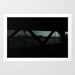 dark bridge nyc Art Print