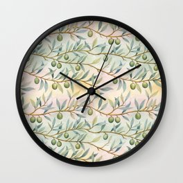 olive branches pattern Wall Clock