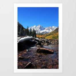 Maroon Bells in Aspen, Colorado Art Print