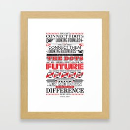 "Steve Jobs ""Connecting the dots"" quote print Framed Art Print"